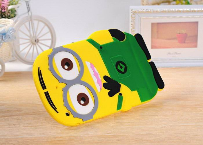 Apple iPad 2, iPad 3, iPad 4, iPad Mini 1, iPad Mini 2, iPad Mini 3, iPad Mini 4, iPad Air 1, iPad Air 2 Cartoon Cute case with little yellow Minion