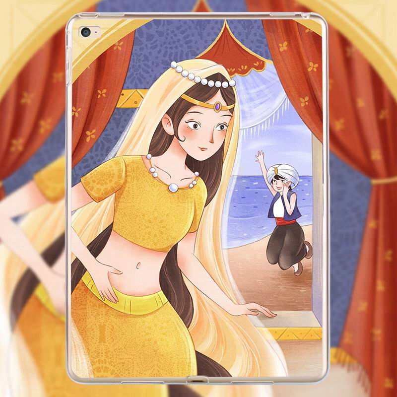 Apple iPad Air 2, iPad Mini 2, iPad Mini 3, iPad Mini 4 cartoon silicone case with Alice, princess and others heroes pattern
