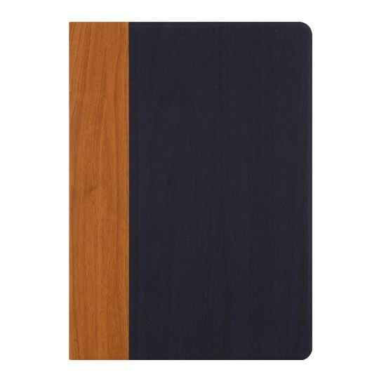 Brown wood with the blue wood: