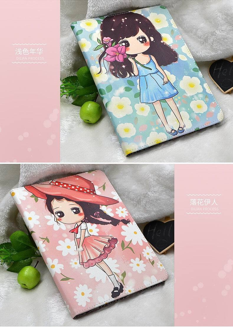 Apple iPad mini 4 Protective case with Cute girl print