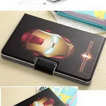 Apple iPad Mini 4 Protective sleeve with cartoon heroes like Luffy, Superman, jingle, Spongebob, Iron Man, Captain America