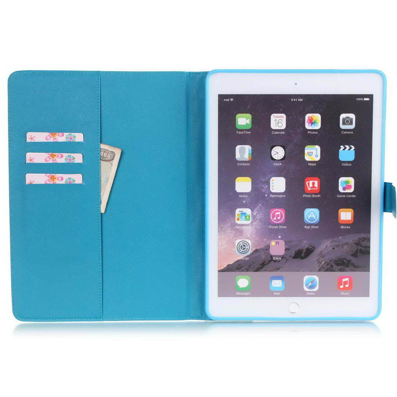 Apple Protective sleeve for iPad Mini 4 shell Korean flower ultra-thin Tower Cover tide
