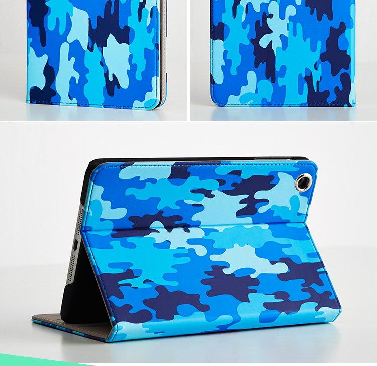 iPad case with camouflage multicolor patter for Apple iPad 2, iPad 3, iPad 4, iPad Mini 1, iPad Mini 2, iPad Mini 3, iPad Air 1, iPad Air 2