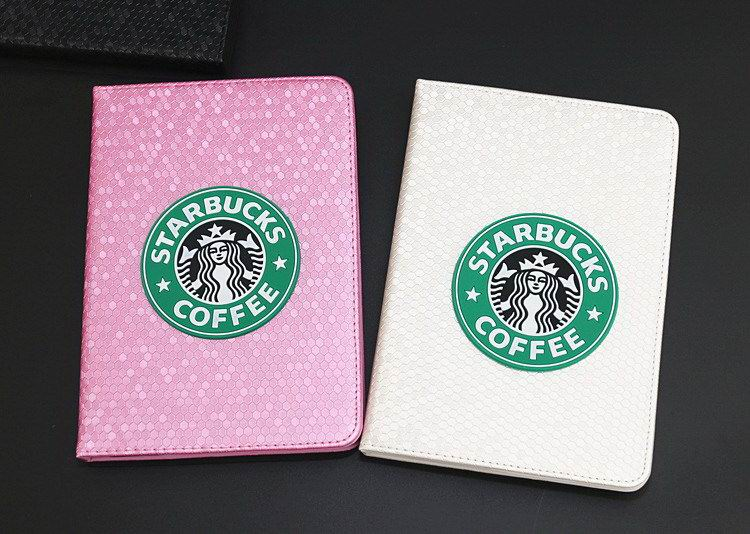 iPad case with starbucks pattern for Apple iPad 2, iPad 3, iPad 4, iPad Mini 1, iPad Mini 2, iPad Mini 3, iPad Mini 4, iPad Air 1, iPad Air 2