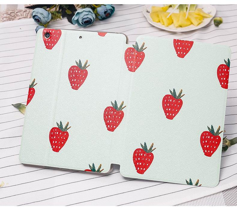 iPad case with summer fruits strawberry, watermelon, pineapple pattern Apple iPad Mini 1, iPad Mini 2, iPad Mini 3, iPad Mini 4