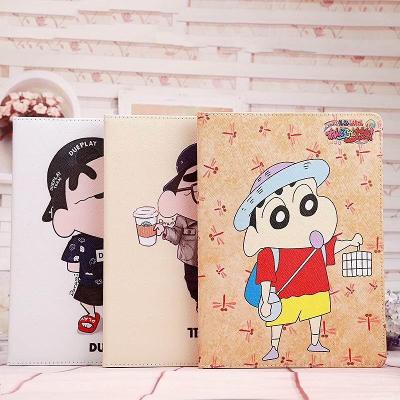 iPad cover with cartoon Tballer and Dueplay heroes for Apple iPad 2, iPad 3, iPad 4, iPad Mini 1, iPad Mini 2, iPad Mini 3, iPad Mini 4, iPad Air 1, iPad Air 2