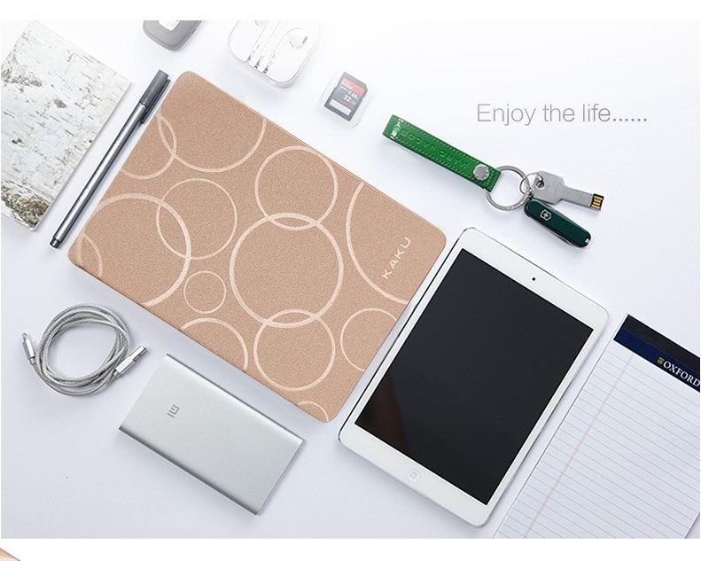 iPad multicolor Kaku case with circles pattern for Apple iPad Mini 1, iPad Mini 2, iPad Mini 3, iPad Mini 4