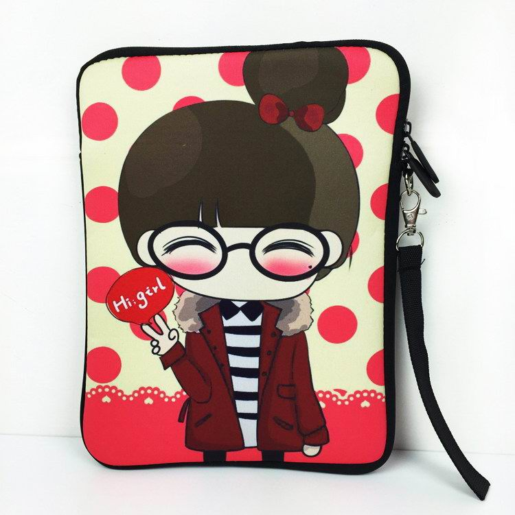 iPad shockproof case with cute girl cartoon pattern for Apple iPad 4, iPad Air 1, iPad Air 2