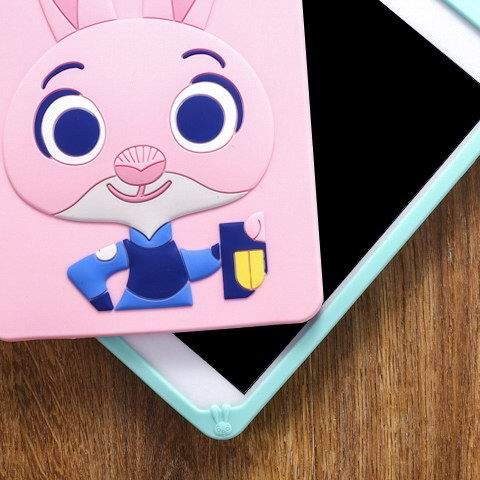 iPad silicone cover with cartoon rabbit pattern for Apple iPad Mini 1, iPad Mini 2, iPad Mini 3, iPad Mini 4