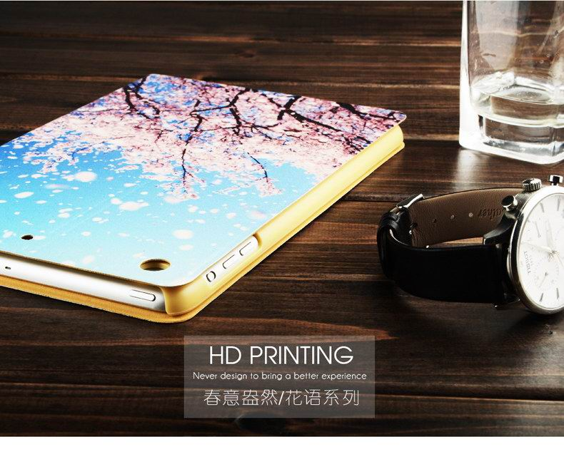 KenKe Apple iPad Mini 1, iPad Mini 2, iPad Mini 3, iPad Mini 4 protective cover with HD pattern