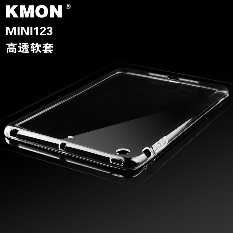 KMON iPad silicone transparent cover for Apple iPad Mini 1, iPad Mini 2, iPad Mini 3