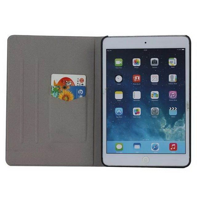 Painted Cover with colored flowers and butterflies form Apple iPad Mini 1, iPad Mini 2, iPad Mini 3