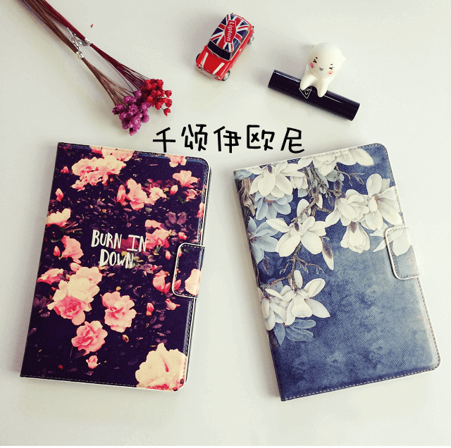 Tablet case with flower blooms pattern for Apple iPad Mini 1, iPad Mini 2, iPad Mini 3