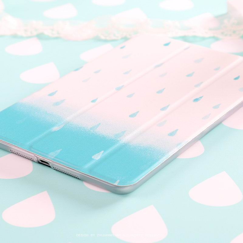 Apple iPad Protection Case with raindrops for for iPad Mini 1, iPad Mini 2, iPad Mini 3, iPad Mini 4, iPad 2, iPad 3, iPad 4, iPad Air 1, iPad Air 2