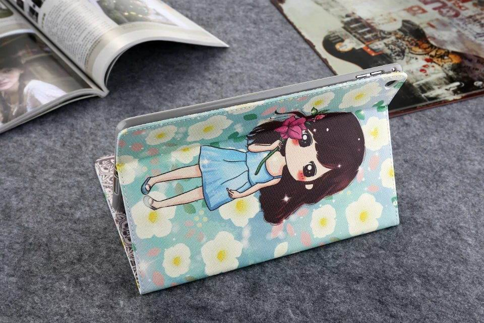Apple iPad Protective cartoon case with a girl for iPad Mini 1, iPad Mini 2, iPad Mini 3, iPad Mini 4
