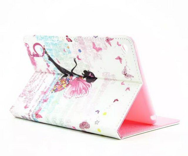 Apple iPad Protective case with butterfly & flower for iPad Mini 4