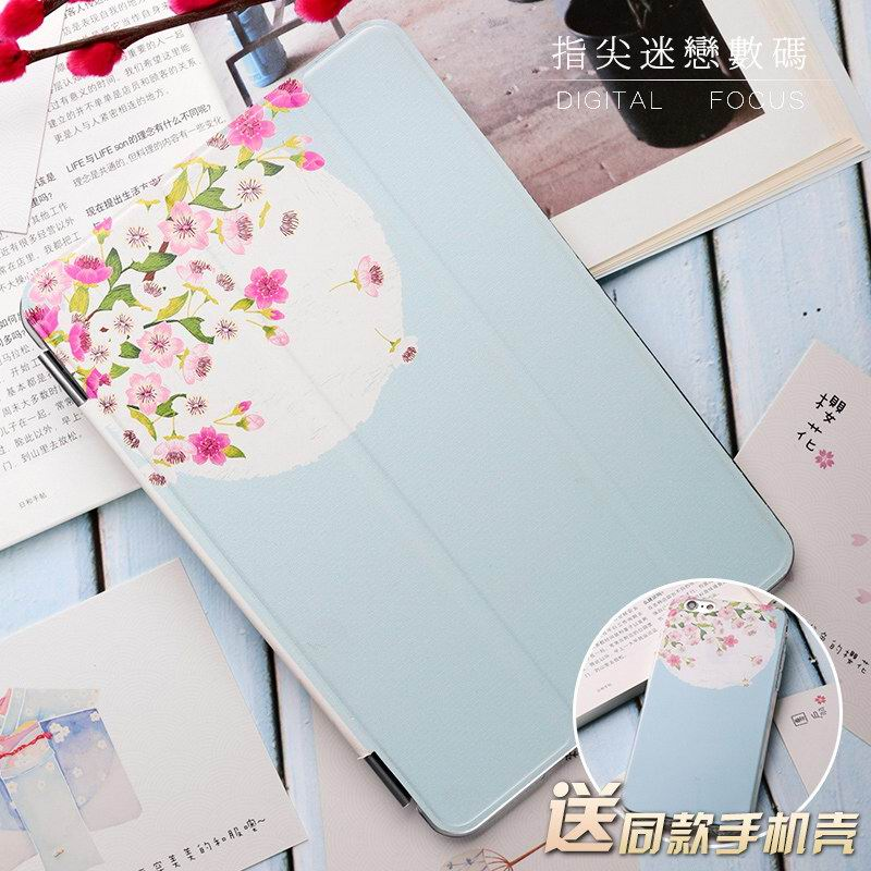 Apple iPad Protective Case with flowers for iPad Air 1, iPad Air 2, iPad Pro 9.7 inch, iPad Mini 1, iPad Mini 2, iPad Mini 3, iPad Mini 4, iPad 2, iPad 3, iPad 4