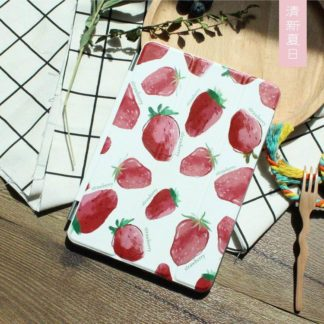 Apple iPad protective case with strawberries fruit for iPad Mini 1, iPad Mini 2, iPad Mini 3, iPad Air 1, iPad Air 2, iPad Pro 9.7 inch