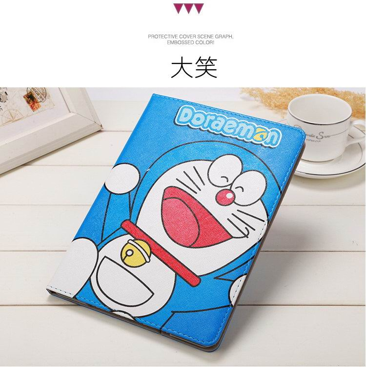 Apple iPad Protective slim cartoon case with a cat Doraemon for iPad Mini 1, iPad Mini 2, iPad Mini 3, iPad 2, iPad 3, iPad 4, iPad Air 1, iPad Air 2