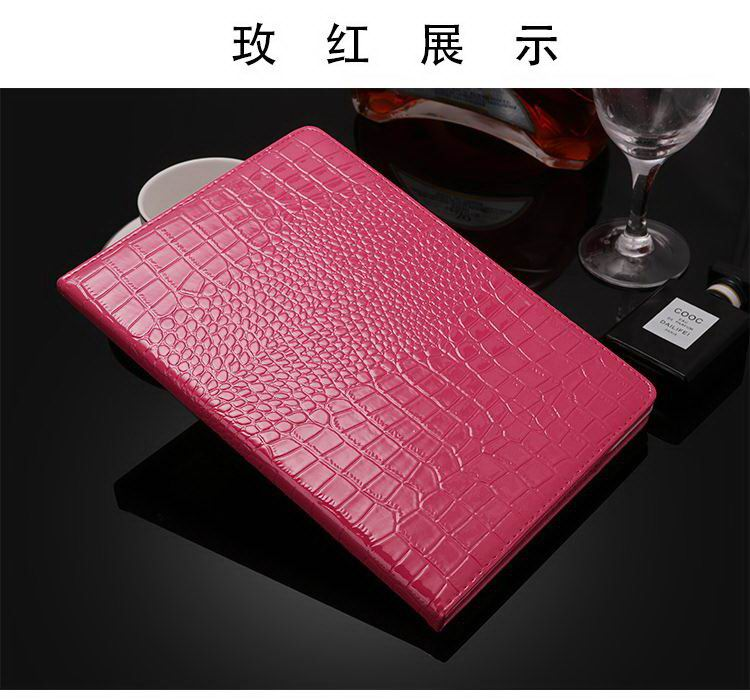 Business case with crocodile pattern with stand for Apple iPad 2, iPad 3, iPad 4, iPad Mini 1, iPad Mini 2, iPad Mini 3, iPad Mini 4, iPad Air 1, iPad Air 2