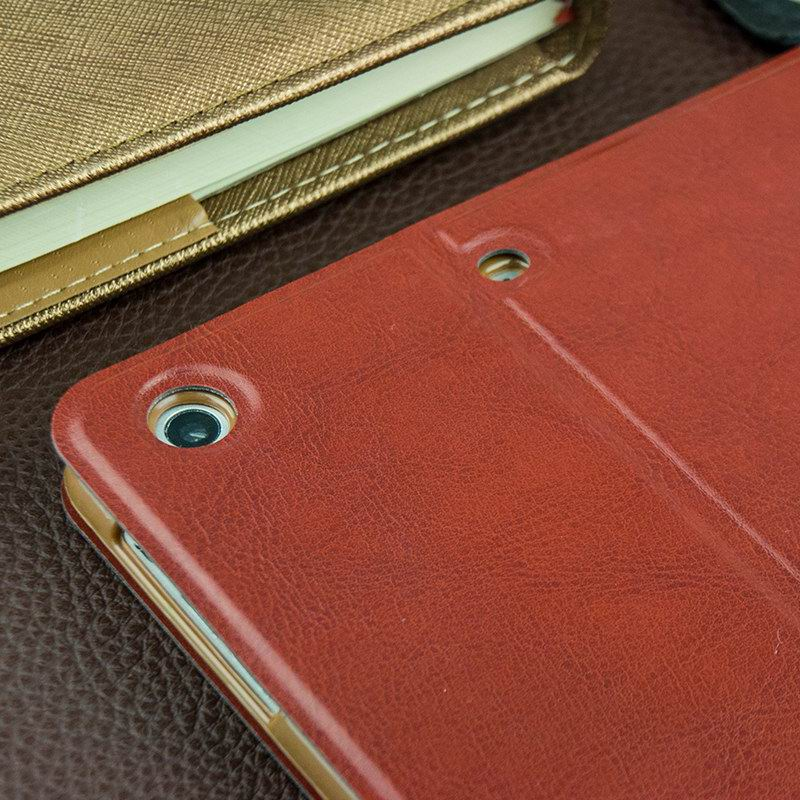 Business case with multicolor leather pattern with stand and cards pocket for Apple iPad Mini 1, iPad Mini 2, iPad Mini 3