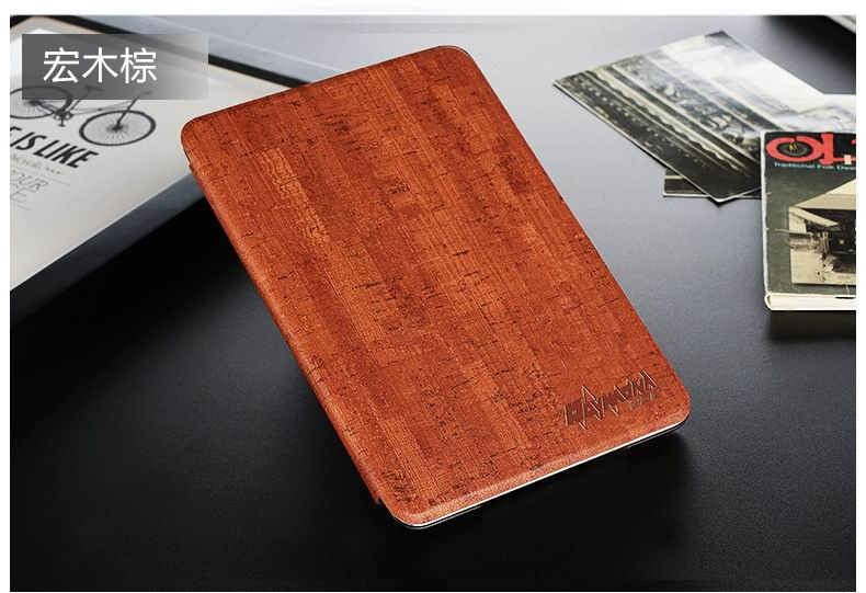 Business Case with wood pattern for Apple iPad Mini 1, iPad Mini 2, iPad Mini 3
