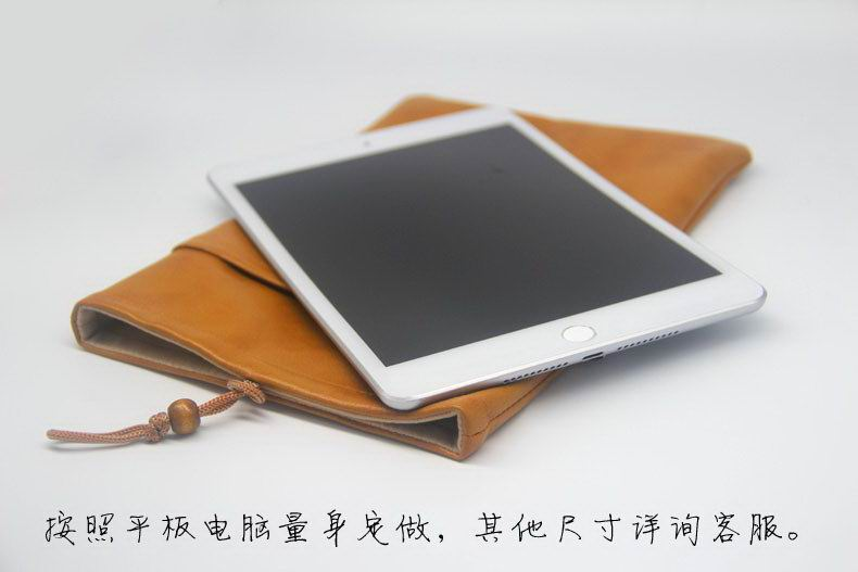 Business sleeve/bag with leather pattern for Apple iPad Mini 4, Apple iPad Air 1