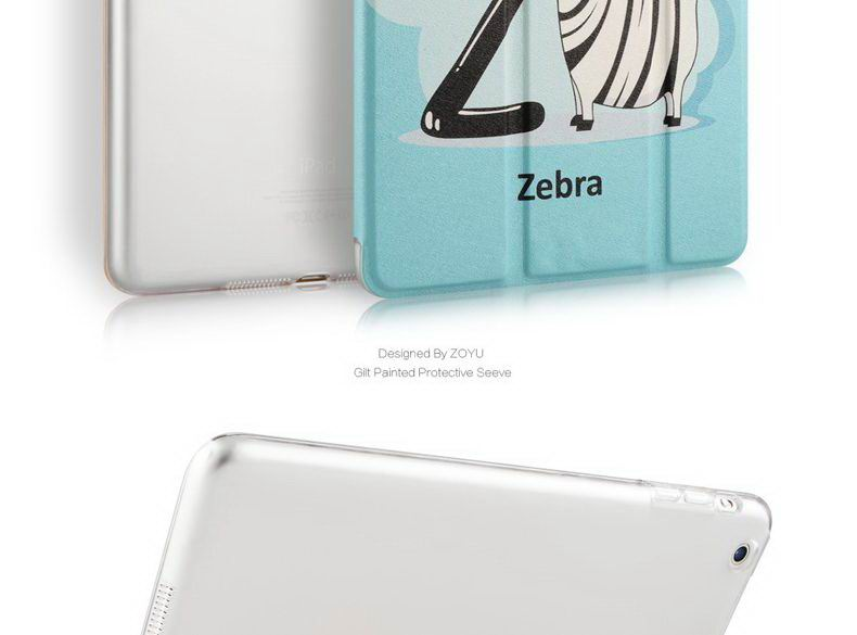 Case with a picture of rainbow, girl, zebra and other for Apple iPad Mini 1, iPad Mini 2, iPad Mini 3, iPad Mini 4