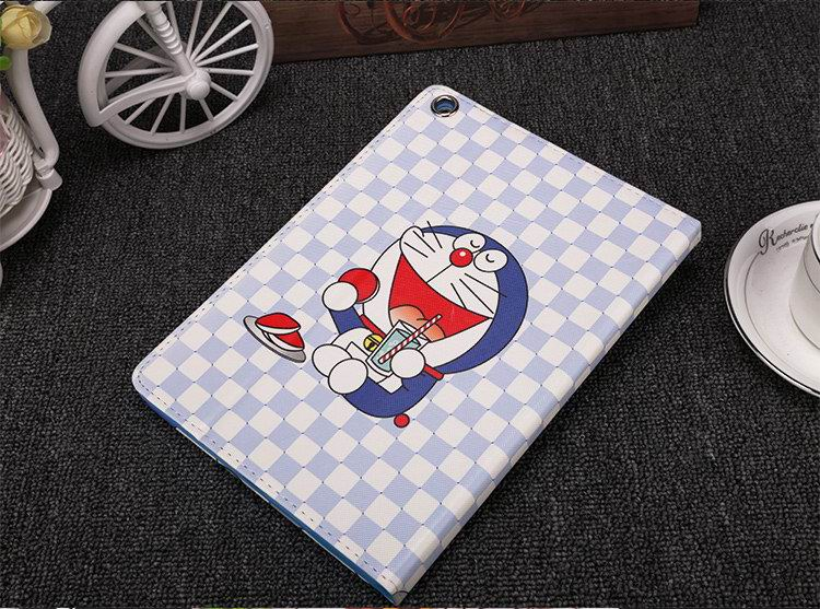 Case with cartoon Doraemon drawing for  Apple iPad Air 1, iPad Air 2,  Apple iPad Mini 1, iPad Mini 2, iPad Mini 3, iPad Mini 4,  Apple iPad 2, iPad 3, iPad 4