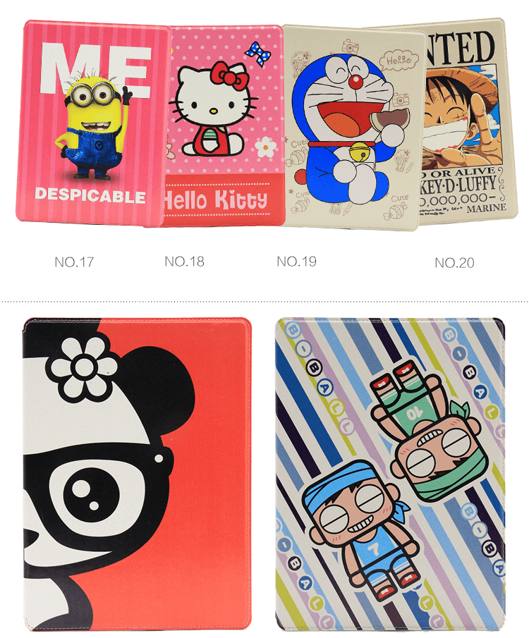 Case with cartoon geroes such as Luffy, Minion, Hero and other for Apple iPad Mini 4, Apple iPad Pro 9.7 inch
