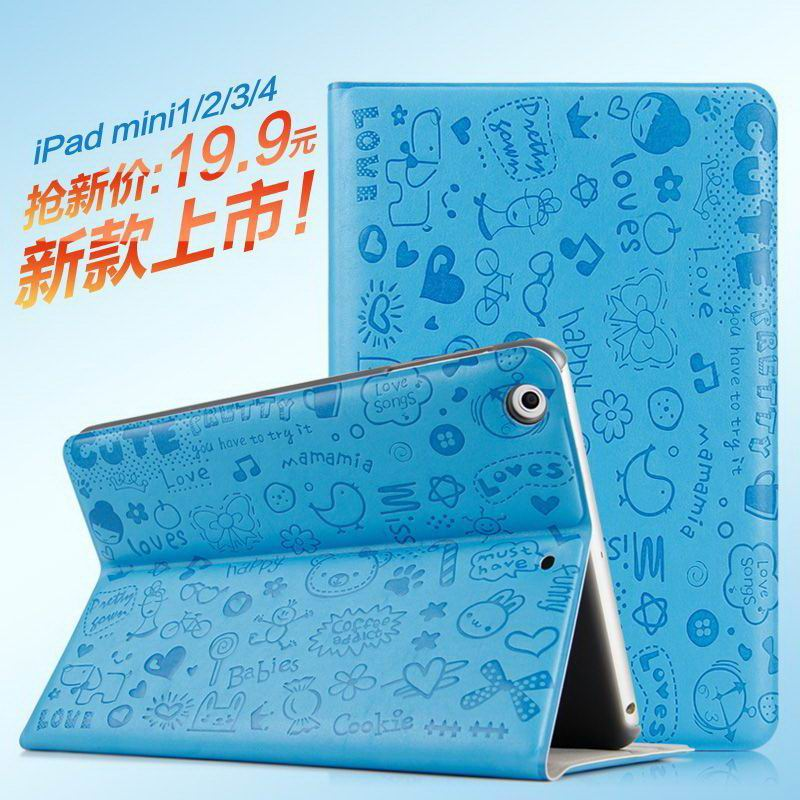 Case with cartoon love pattern for Apple iPad Mini 4