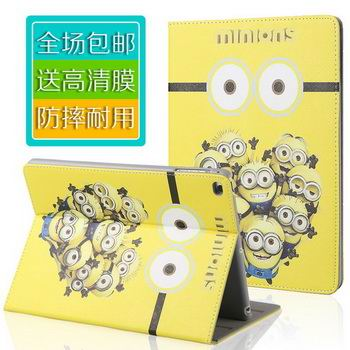 Case with cartoon picture of Minions for Apple iPad Mini 1, iPad Mini 2, iPad Mini 3, iPad Mini 4, Apple iPad 2, iPad 3, iPad 4, Apple iPad Air 1, iPad Air 2