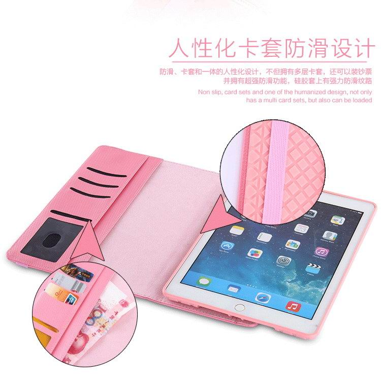 Case with cute business pattern, rotation stand and pockets for Apple iPad 2, iPad 3, iPad 4, iPad Mini 1, iPad Mini 2, iPad Mini 3, iPad Mini 4, iPad Air 1, iPad Air 2, iPad Pro 9.7 inch