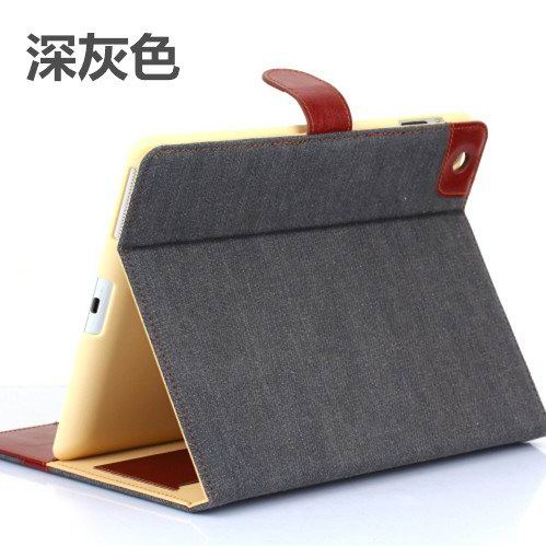 case with denim parrten wallet style with pockets and stand for apple ipad 2 ipad 3 ipad 4 ipad mini 1 ipad mini 2 ipad mini 3 ipad mini 4 ipad air 1 ipad air 2 0