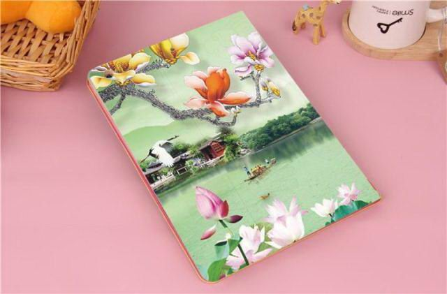 Case with flower & nature illusrtation for Apple iPad Mini 4