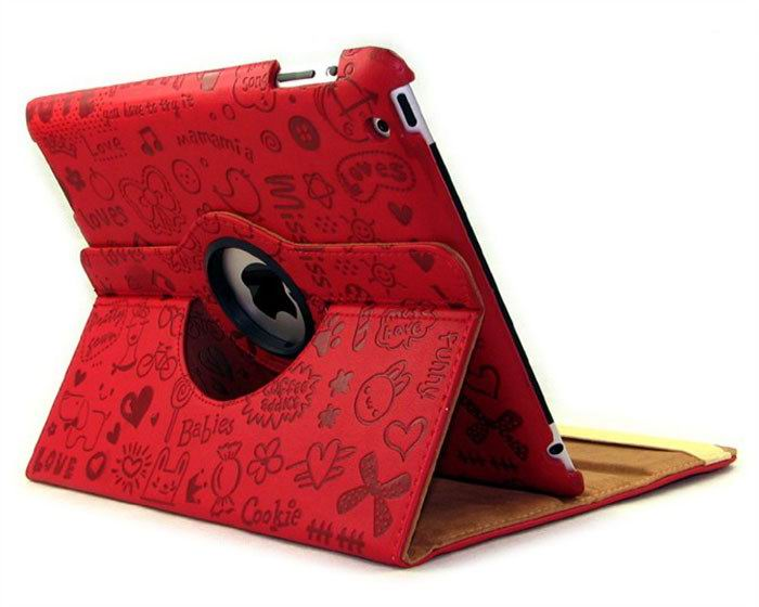 Case with hearts & love pattern for Apple iPad Mini 1, iPad Mini 2, iPad Mini 3
