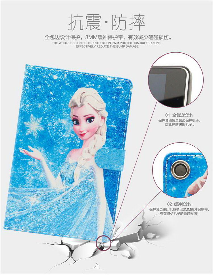 Case with illustrations from the frozen Cartoon for Apple iPad Air 1, iPad Air 2, Apple iPad 2, iPad 3, iPad 4, Apple iPad Mini 1, iPad Mini 2, iPad Mini 3