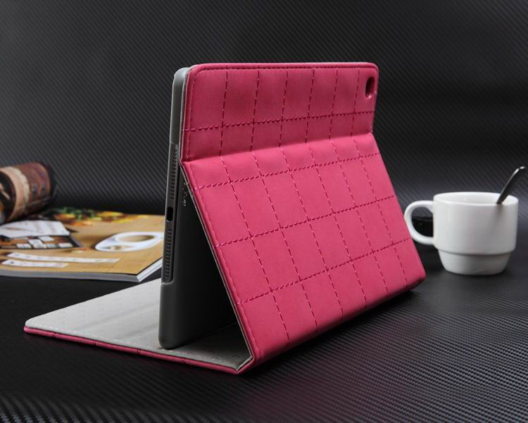 Case with square business pattern and stand for Apple iPad 2, iPad 3, iPad 4, iPad Mini 1, iPad Mini 2, iPad Mini 3, iPad Mini 4, iPad Air 1, iPad Air 2, iPad Pro 9.7 inch