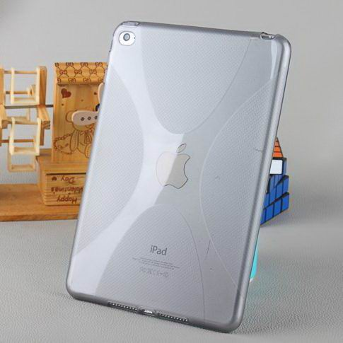 cover of transparent silicone material for apple ipad mini 4 0