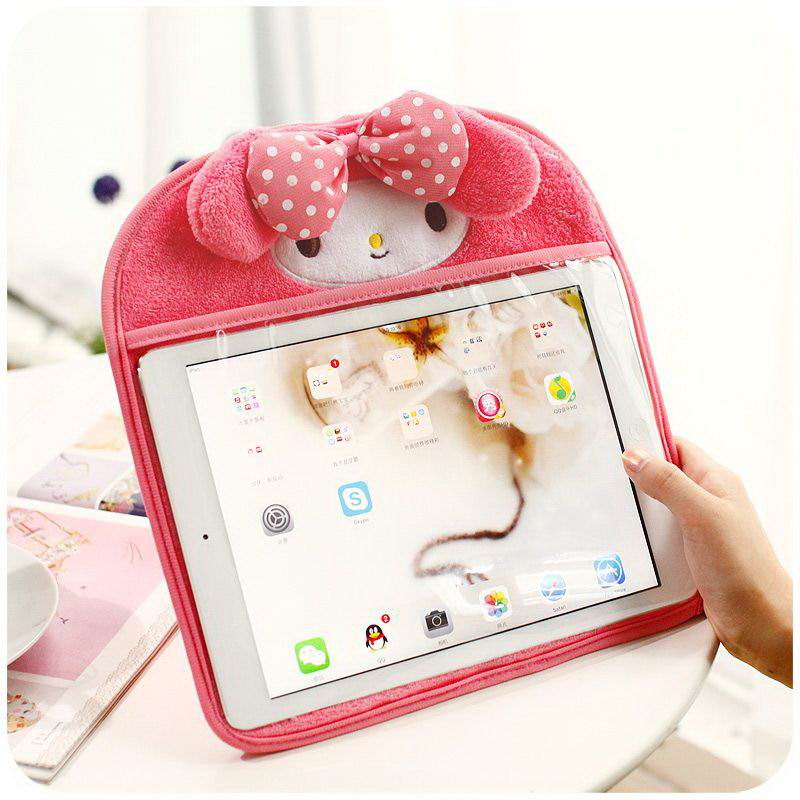 Cover with cute animal muzle from a material with a small pile for Apple iPad Air 1, iPad Air 2, Apple iPad Mini 1, iPad Mini 2, iPad Mini 3, iPad Mini 4