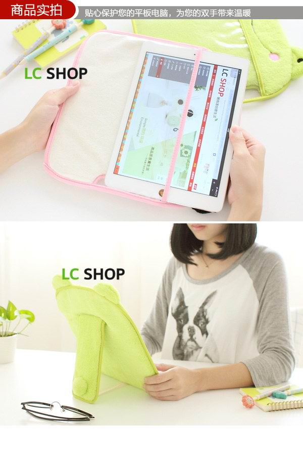 Cute Sleeve with panda, duck, kitty for Apple iPad Mini 1, iPad Mini 2, iPad Mini 3, Apple iPad Air 1, iPad Air 2