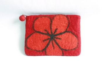 Handmade wool sleeve with flower for Apple iPad Mini 1, iPad Mini 2, iPad Mini 3, iPad Mini 4