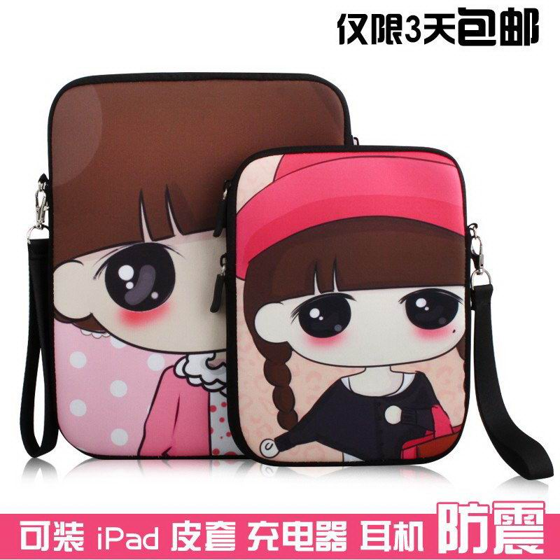 iPad Cute protective sleeve with a girl for Apple iPad 2, iPad 3, iPad 4, Apple iPad Air 1, iPad Air 2, Apple iPad Mini 1, iPad Mini 2, iPad Mini 3, iPad Mini 4