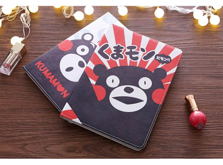 iPad Protective cartoon case with Kumamon bear for Apple iPad Mini 1, iPad Mini 2, iPad Mini 3, iPad Mini 4, Apple iPad Air 1, iPad Air 2, Apple iPad 2, iPad 3, iPad 4