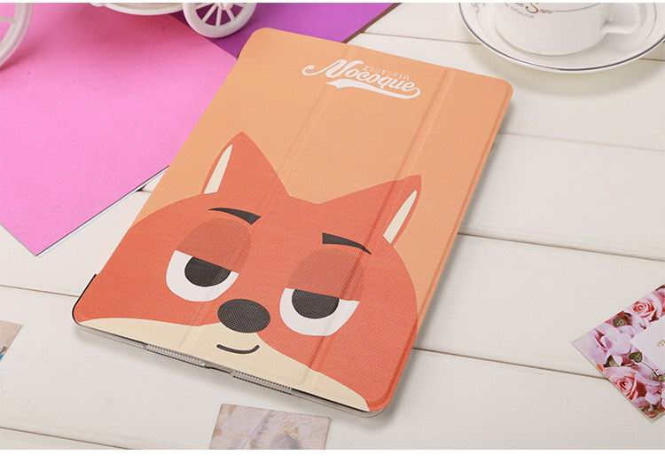 iPad Protective Cartoon Cute case with a rabbit or a fox for Apple iPad Mini 1, iPad Mini 2, iPad Mini 3, iPad Mini 4, Apple iPad 2, iPad 3, iPad 4, Apple iPad Air 1, iPad Air 2