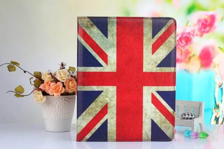 iPad Protective case with a flag, butterfly or flowers for Apple iPad 2, iPad 3, iPad 4, Apple iPad Mini 1, iPad Mini 2, iPad Mini 3