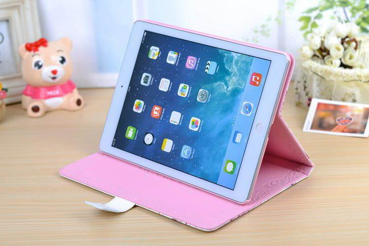 iPad protective case with girl & flower for Apple iPad Mini 1, iPad Mini 2, iPad Mini 3, Apple iPad 2, iPad 3, iPad 4