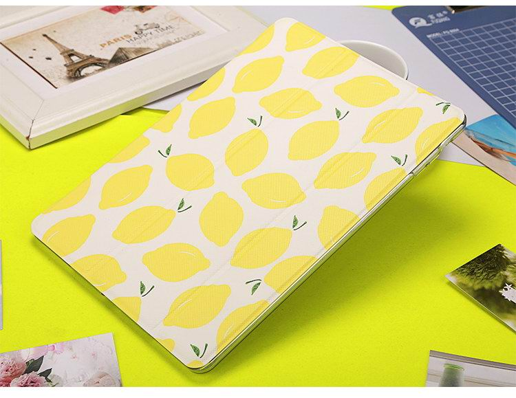 iPad protective case with lemons fruit for Apple iPad 2, iPad 3, iPad 4, Apple iPad Mini 1, iPad Mini 2, iPad Mini 3, iPad Mini 4, Apple iPad Air 1, iPad Air 2