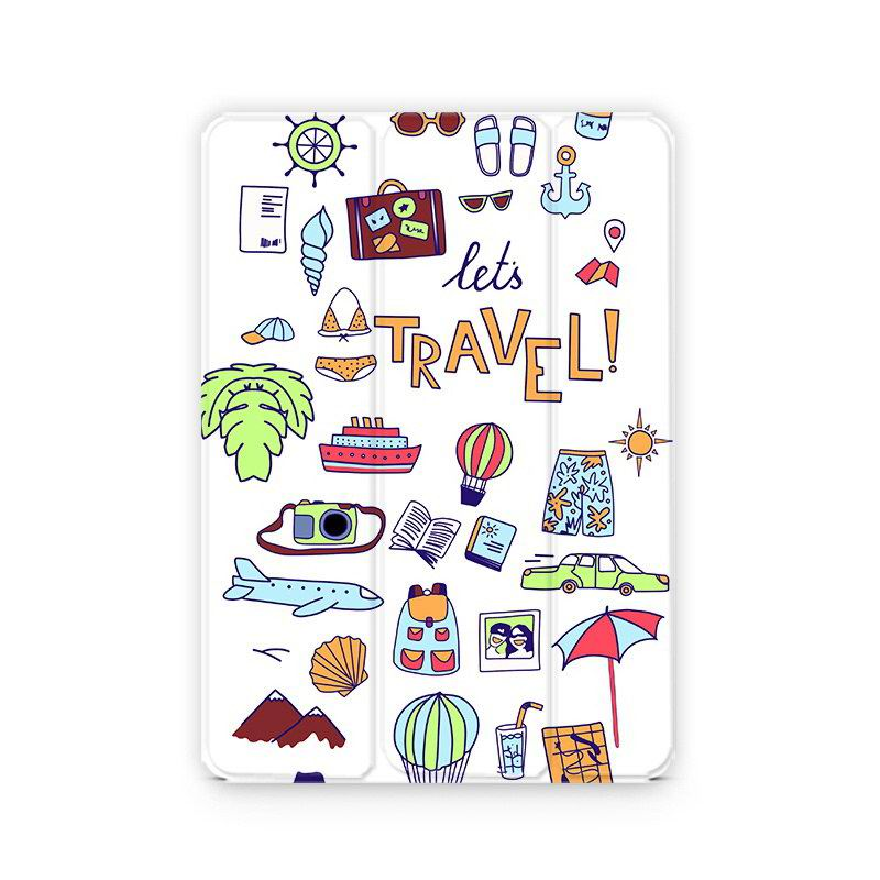 iPad Protective Case with travel pictures for Apple iPad Mini 1, iPad Mini 2, iPad Mini 3, iPad Mini 4, Apple iPad 2, iPad 3, iPad 4, Apple iPad Air 1, iPad Air 2, Apple iPad Pro 9.7 inch