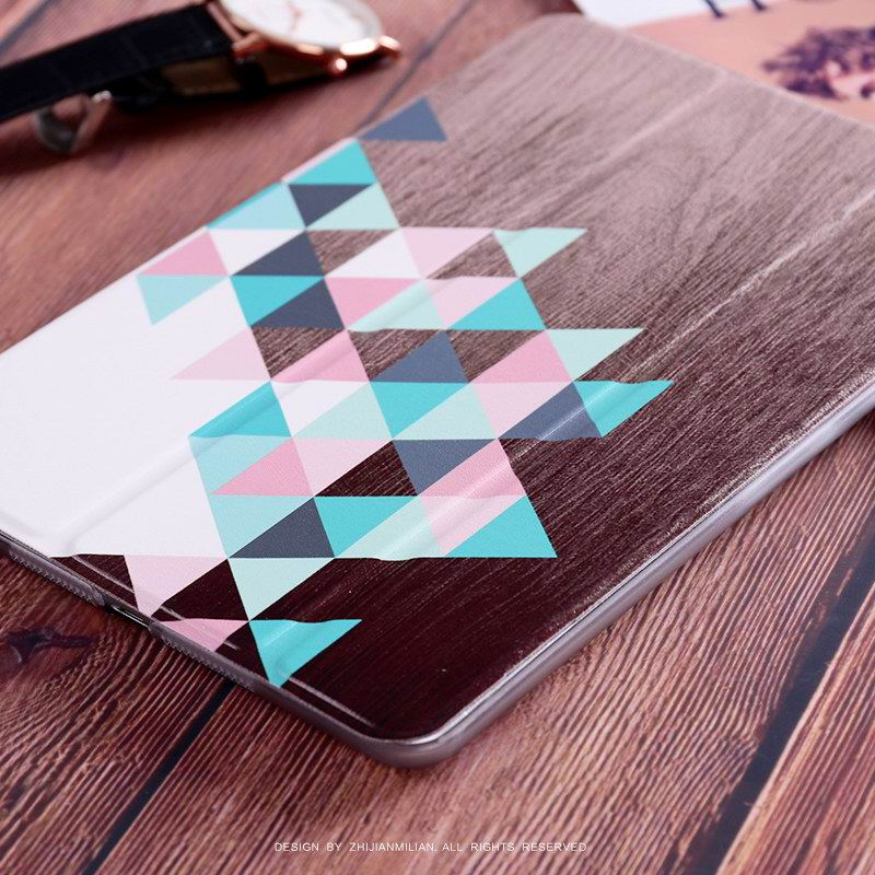 iPad Protective Case with wood geometric pattern for Apple iPad Mini 1, iPad Mini 2, iPad Mini 3, iPad Mini 4, Apple iPad 2, iPad 3, iPad 4, Apple iPad Air 1, iPad Air 2